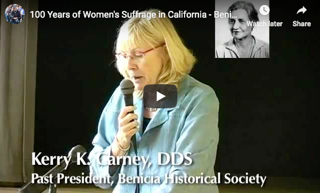 During October and November 2011, the Benicia League of Women Voters, AAUW, Historical Society and Soroptimists in partnership with Benicia Unified School District and Benicia Public Library celebrated the 100th Anniversary of Women's Suffrage in California. This video provides a historical overview, a skit about San Francisco Women Suffragists, and local Community women leaders speaking the to importance of women's vote.